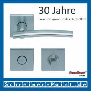 Scoop Wing quadrat PullBloc Quadratrosettengarnitur, Edelstahl poliert/Edelstahl matt, Rosette Edelstahl matt - Vorschau 3