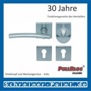Scoop Wing quadrat PullBloc Quadratrosettengarnitur, Edelstahl poliert/Edelstahl matt, Rosette Edelstahl matt - Vorschau 5
