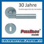 Scoop Bauhaus PullBloc Rundrosettengarnitur, Rosette Edelstahl matt!