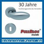 Scoop Boby PullBloc Rundrosettengarnitur, Rosette Edelstahl matt