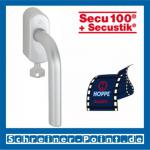 Hoppe Bonn Aluminium Fenstergriff abschließbar F1-2 Natur matt Secu100 + Secustik 150F/US950S (100 Nm), 2547780, 2547798