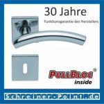 Scoop Fabo quadrat PullBloc Quadratrosettengarnitur, Rosette Edelstahl poliert