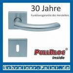 Scoop Golf quadrat PullBloc Quadratrosettengarnitur, Rosette Edelstahl matt