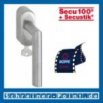 Hoppe Amsterdam Edelstahl Fenstergriff F69 abschließbar Secustik, E1400Z/US950S 100Nm, 2548192, 3085361