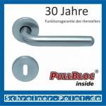Scoop Image II PullBloc Rundrosettengarnitur, Rosette Edelstahl matt