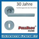 Scoop Jade II PullBloc Rundrosettengarnitur, Rosette Edelstahl matt