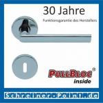 Scoop Jade II PullBloc Rundrosettengarnitur, Rosette Edelstahl poliert