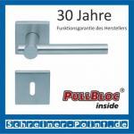 Scoop Maxima quadrat PullBloc Quadratrosettengarnitur, Rosette Edelstahl matt