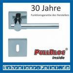 Scoop Maxima quadrat PullBloc Quadratrosettengarnitur, Rosette Edelstahl poliert
