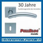 Scoop Prima quadrat PullBloc Quadratrosettengarnitur, Rosette Edelstahl matt