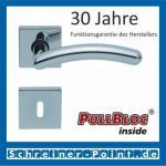 Scoop Prima quadrat PullBloc Quadratrosettengarnitur, Rosette Edelstahl poliert