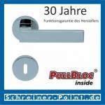 Scoop Quadra PullBloc Rundrosettengarnitur Rosette Edelstahl poliert