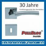 Scoop Rocket quadrat PullBloc Quadratrosettengarnitur, verchromt/nickelmatt, Rosette Edelstahl poliert