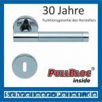 Scoop Roxy II PullBloc Rundrosettengarnitur, Rosette Edelstahl poliert