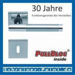 Scoop Roxy II quadrat PullBloc Quadratrosettengarnitur, Rosette Edelstahl poliert