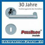 Scoop Thema U PullBloc Rundrosettengarnitur, Rosette Edelstahl poliert