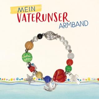 Geschenkset Vaterunser Perlen Armband Symbole Ø 4 cm + Geschenkbuch