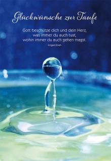 Glückwunschkarte Taufe 6 St Kuvert Irmgard Erath Glück-Wunsch Sakrament Leben