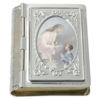 Rosenkranz Etui Bibelformat Kommunion Junge 5 cm Schmucketui Schmuckschatulle