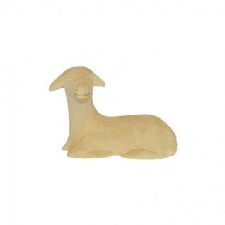 Schaf liegend Bauer-Krippe 17 cm handgeschnitzt Krippen Figur Weihnachten