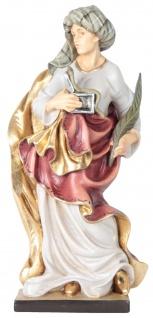 Heiliger Damian mit Schlange Holzfigur geschnitzt Südtirol Schutzpatron