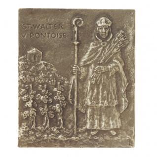 Namenstag Walter Bronzeplakette 13 x 10 cm Namenspatron