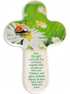Kinderkreuz Schutzengel Gebet 16 cm Wandkreuz Holzkreuz Kruzifix