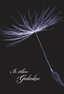 Trauerkarte In stillem Gedenken (6 St) Rainer Maria Rilke Grußkarte Kuvert
