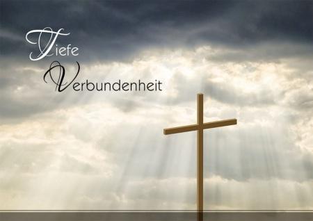 Trauerkarte Tiefe Verbundenheit Hieronymus (6 Stck) Beileidskarte Kondolenzkarte