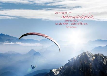 Postkarte Kurt Tucholsky (Grußkarte 10 Stück Adressfeld) Reise Schöpfung