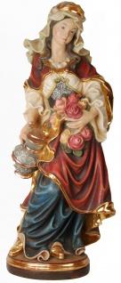 Heilige Elisabeth mit Rosen Holzfigur geschnitzt Südtirol Schutzpatronin