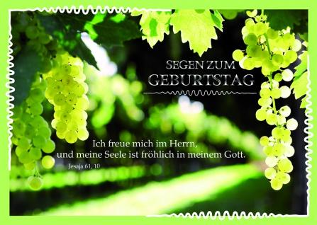 Postkarte Geburtstag Psalm Jesaja Segen (10 Stck) Glückwunschkarte