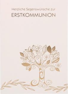 Glückwunschkarte Lebensbaum Herzliche Segenswünsche zur Erstkommunion (6 Stück)