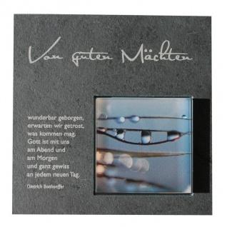 Wandrelief Von guten Mächten wunderbar.. 17 cm Schiefer Dietrich Bonhoeffer
