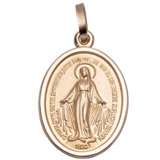 Wunderbare Wundertätige Gold 333 Schmuck Medaillon 1, 6 cm Maria Empfängnis
