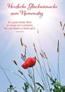 Postkarte Namenstag 10 St Adressfeld Hans Thoma Gratulation Glück-Wunsch Seele