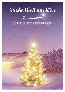 Postkarte Frohe Weihnachten gutes neues Jahr (10 Stck) Tannenbaum Grußkarten