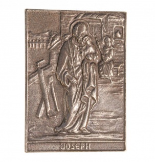 Namenstag Josef 8 x 6 cm Bronzeplakette Namenstag Geschenk