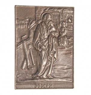 Namenstag Josef 8 x 6 cm Geschenk Bronzerelief Wandbild Schutzpatron