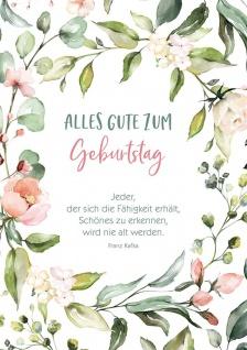 Postkarte Geburtstag 10 St Adressfeld Franz Kafka Gratulation Lebenjahr Freude