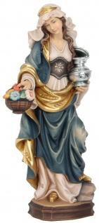 Heilige Dorothea Heiligenfigur Holz geschnitzt Schutzpatronin Märtyrerin