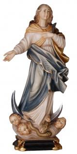 Maria Immacolata mit Engel Holzfigur geschnitzt Südtirol Madonna