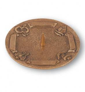Kerzenständer 4 Symbole und Gravurfläche Bronze 18 cm Kerzenhalter Kommunion