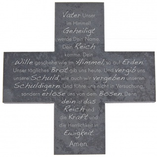 Wandkreuz Schiefer Gebet Vater Unser Kreuz 12 cm Kreuz Kruzifix Christlich
