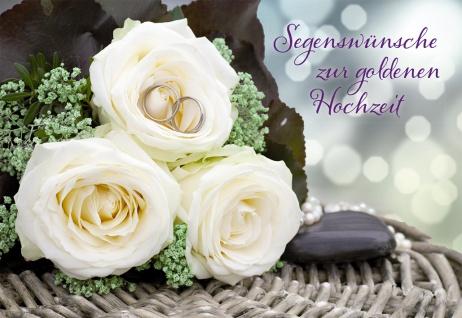 Hochzeitskarte Segenswünsche zur goldenen Hochzeit (6 St)