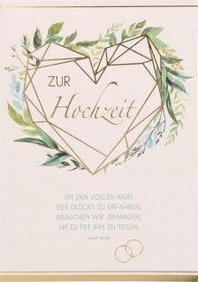 Glückwunschkarte Hochzeit 6 St Kuvert Mark Twain Lebensweg Liebe Treue Zuneigung