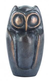 Eule 10 cm Bronzeskulptur Fricke Herbert Figur Bronze Statue Skulptur