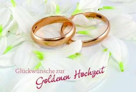 Hochzeitskarte Glückwünsche zur Goldenen Hochzeit (6 St) Grußkarte Kuvert