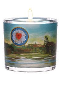 Glaswindlicht Martin Luther Teelicht Kerzenhalter Geschenkbox Glas für Windlicht