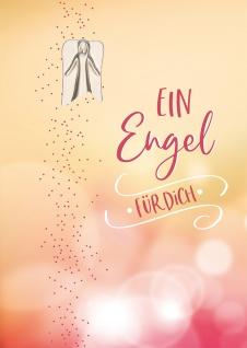 Grußkarte Engel-Plakette Kerstin Stark 5 St Kuvert Luciano de Crescenzo Umarmung